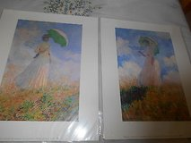 "2 Vintage Claude Monet Pictures / Prints!  "" Lady with Parosol"" in Houston, Texas"
