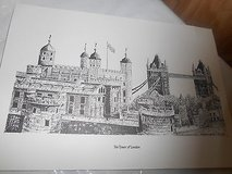 THE TOWER OF LONDON Picture!      Penciled Drawn!  Re-print!   Really nice!     Signed by Artist... in Houston, Texas