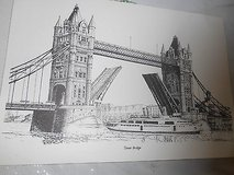 """THE LONDON BRIDGE""!   Copy of a Pencil Drawn Picture!  8 1/2"" h x 12 1/2"" w in Houston, Texas"