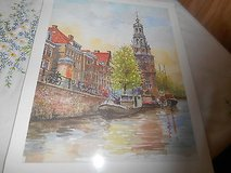 Scenic Reprint Picture of Venice?   Water Color?  Very Nice.  Artist Unknown in Houston, Texas