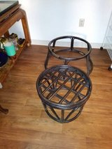 Base of Rattan Round chair and Base of Round Rattan Foot Stool in Fairfield, California