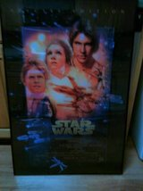 Framed Star Wars A New Hope Movie Poster in Bartlett, Illinois