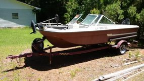 Fisher Boat Trailer (with Boat, Engine and Trolling Motor) - boats - by owner - marine sale in Leesville, Louisiana