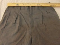 mens l.l. bean solid gray comfort waist wool 36 x 28 pleated dress slacks  00057 in Fort Carson, Colorado
