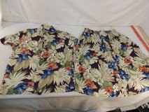 alfred dunner blouse button down shirt w/ matching skirt top 10 skirt 16 floral  51150 in Fort Carson, Colorado