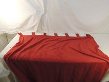 2 panel curtains each 52 x 76 red rn 34932 100% polyester machine washable  51142 in Fort Carson, Colorado
