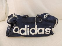 classic blue and white adidas duffle bag gym bag 100% nylon large 50895 in Fort Carson, Colorado