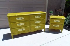 vintage french provincial dresser and nightstand in Travis AFB, California