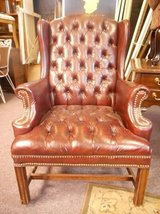 Tufted merlot wingback chair in Naperville, Illinois
