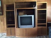 free 3 piece lighted entertainment center with tv in Bolingbrook, Illinois