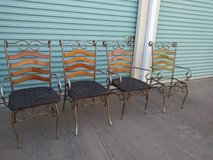 4 cafe bistro distressed soda shop shabby chairs in Sacramento, California