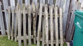 old picket fence sections in Joliet, Illinois