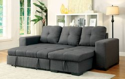 denton sectional sofa bed gray fabric free delivery in Miramar, California