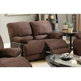 new chocolate microfiber loveseat recliner free delivery in Miramar, California