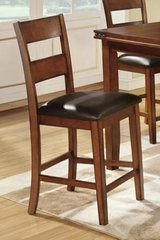 new 2 antique medium oak counter height bar stools free delivery in Miramar, California