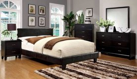 new queen bed bluetooth music with slats espresso free delivery in Miramar, California