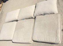 set of 3 cushions for patio furniture, beige in Kingwood, Texas