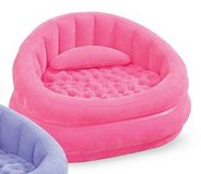 plush inflatable chair, pink, new in packaging in Kingwood, Texas