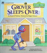 RARE Vintage 1984 Sesame Street Grover Sleeps Over A Growing-Up Golden Book Hard Cover Childrens in Joliet, Illinois