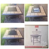 4-in-1 coffee table /grill/ cooler / firepit and two side tables in Fort Lewis, Washington