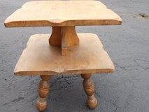 beautiful vintage small table needs a little tlc stand 2 tier 60321 in Fort Carson, Colorado