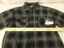 nwts LARGE dickies gray black plaid relaxed fit polyester lined overshirt 00118 in Huntington Beach, California