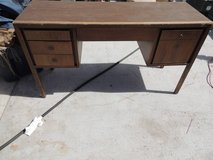 vintage office desk teacher tall multi drawer light wood local pickup 51125 in Fort Carson, Colorado
