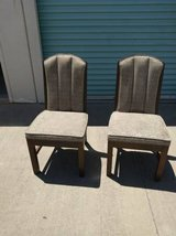 two art deco dining chair upholstered side accent solid wood in Sacramento, California