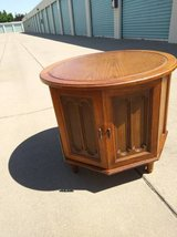 round coffee end table cabinet solid wood in Roseville, California