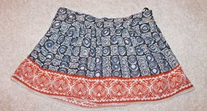 BILLABONG Graphic Print Lined Cotton Beachy Boho Skirt, Small in Aurora, Illinois