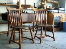 Drop Leaf Table with 3 Chairs- PRICE REDUCED in Cherry Point, North Carolina