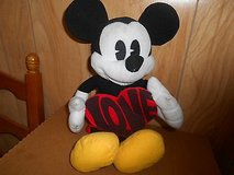 "Plush  Valentine   MICKEY MOUSE  Holding Heart that spells  LOVE !  15""  tall in Bellaire, Texas"