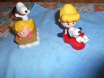 Peanuts Charlie Brown Snoopy McDonald Toys!      Set of 2 from 2015  Movie in Bellaire, Texas