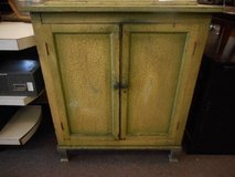 shabby green cabinet in Naperville, Illinois