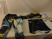 childrens ansr purple white blue medium motocross jersey / 32 ansr pants  00001 in Huntington Beach, California