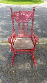 Red Distressed Rocking Chair in Naperville, Illinois