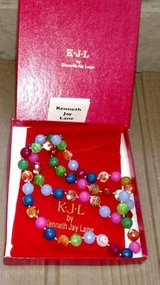 "KJL Kenneth Jay Lane Glass Bead Necklace Simulated Stone Knotted 35"" in St. Charles, Illinois"