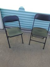 2 black folding chairs they do not match in Sacramento, California