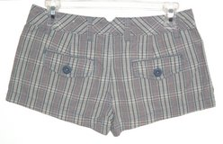 Aeropostale Blue Beige Red Plaid MINI Shorts Womens 1/2 Juniors 1 2 in Joliet, Illinois
