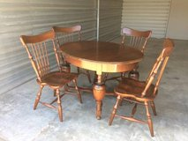 Vintage expandable dining table and chairs in Travis AFB, California