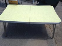 1950's-60's Yellow Formica Top Chrome Table W extra leaf in Dover, Tennessee