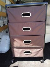 Brown and Black Rolling Drawers in Sacramento, California
