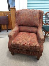 Paisley Arm Chair Wood Accent Overstuffed Office Bedroom Living Room in Sacramento, California