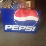 vintage metal Pepsi Sign in Fort Campbell, Kentucky