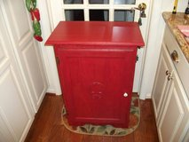 ALL OAK ,RED PAINTED,CABINET in Naperville, Illinois