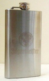 New Jagermeister Stainless Steel 6 oz. Flask in Yorkville, Illinois