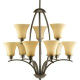 9-Light Antique Bronze Chandelier in Bolingbrook, Illinois