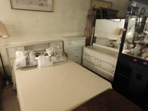 White Full Bed, Dresser and Chest of Drawers in Fort Riley, Kansas
