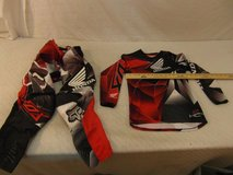 youth red white black 32 fox pants / matching fox youth medium motocross jersey  00014 in Huntington Beach, California