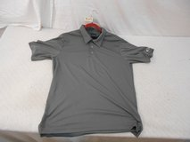mens collared gray oakley sports golf polo shirt large lg l 100% polyester 41164 in Huntington Beach, California